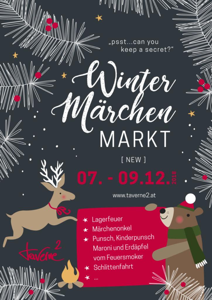 Flyer Winter Märchen Markt