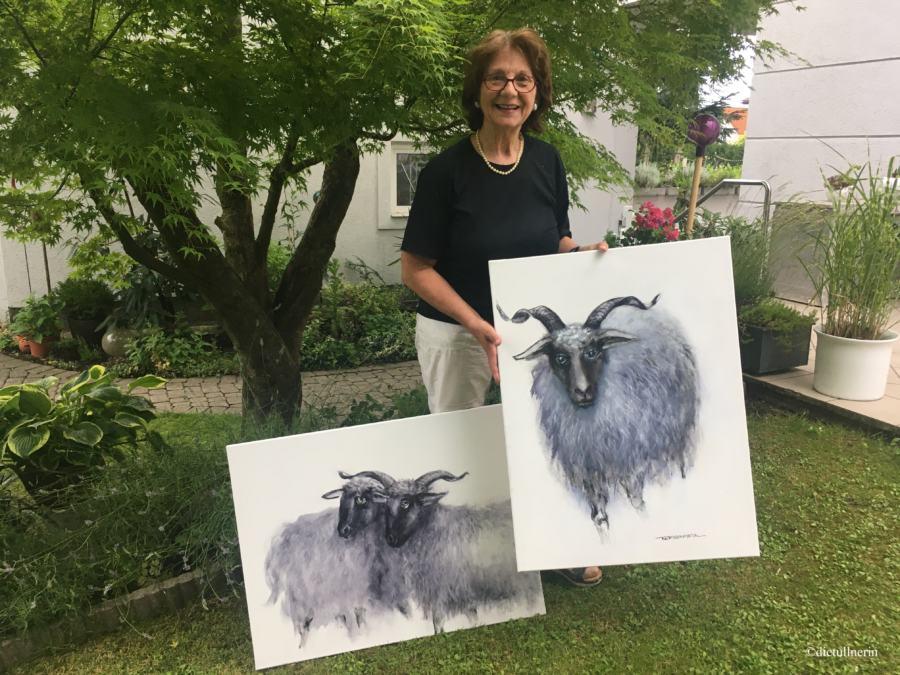 Schafe aus der Schwarz/Weiß Periode