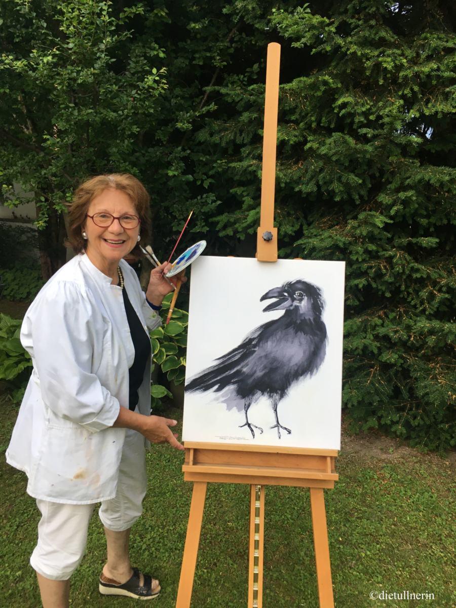 Vogel aus der Schwarz/Weiß Linie